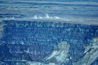 Photo: getti di vapore intorno al cratere Halema'uma'u