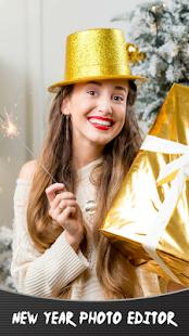 Nový rok editor fotografií - náhled