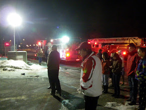 Photo: Fire on the tenth floor of the Holiday Inn Plaza le Chaudiere, 3:30 am