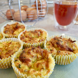 Cheesy Carrot and Courgette Muffins.