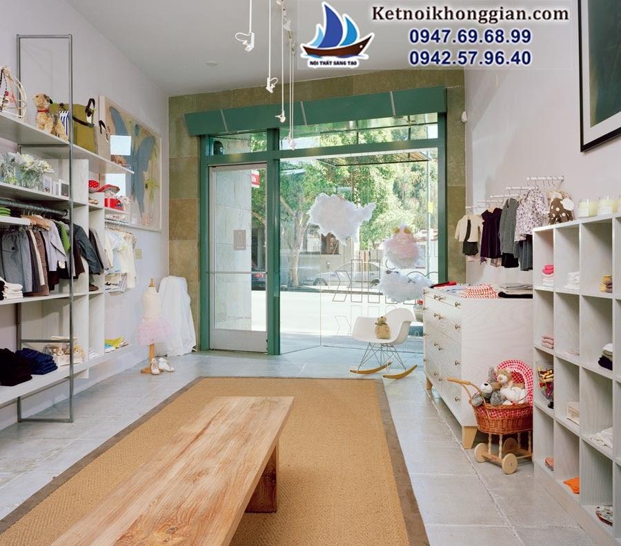 thiết kế shop quần áo trẻ em theo phong cách phương tây