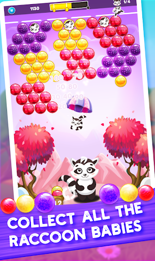 Raccoon Rescue: Bubble Shooter Saga screenshot 1