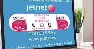 Jetnet ofrece tarifas desde poco más de 10 euros al mes.
