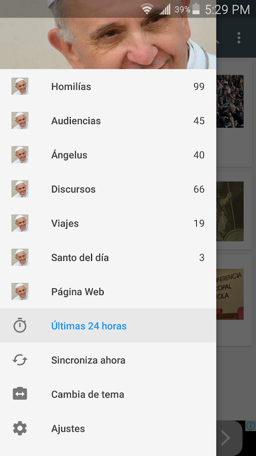 Misa del Papa Francisco- screenshot