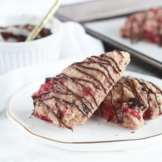 Healthy Raspberry Dark Chocolate Scones Recipe