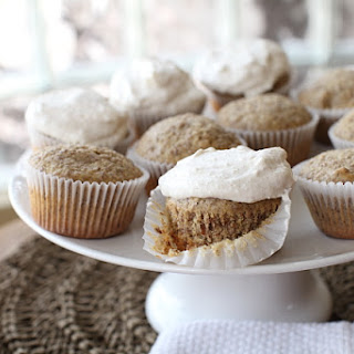 Walnut & Flax Frosted Cupcakes