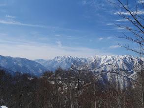 南側の展望(左に帰雲山)