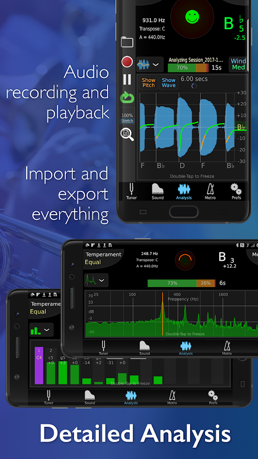TonalEnergy Tuner and Metronome- screenshot
