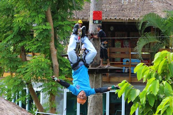 Zipline upside down