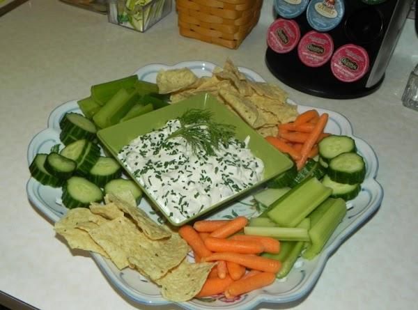 Dip, veggies and chips