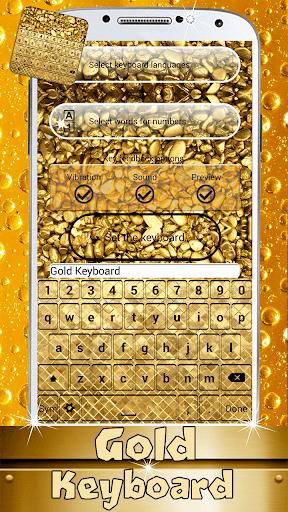 ゴールドデザインキーボード