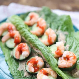 Sriracha Shrimp and Lettuce Wraps Recipe