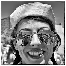 Photo: self reflected with smile #selfie #coneyisland #mermaidparade #streetphotography