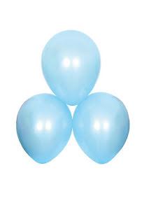 Satinballonger, blå 6 st
