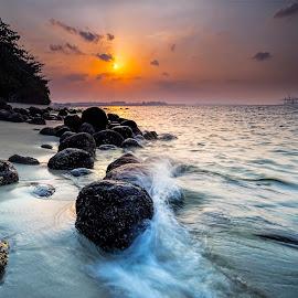 Sunset @ Punggol Beach by Gordon Koh - Landscapes Sunsets & Sunrises
