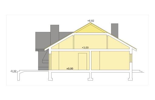 Agat wersja B dach 32 stopnie - Przekrój