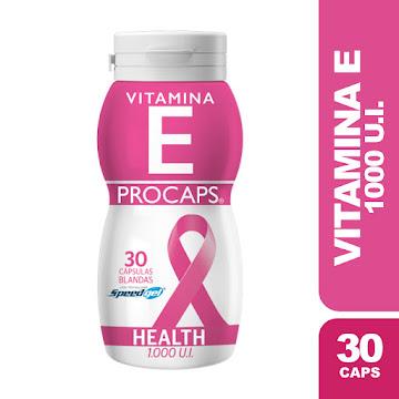 Vitamina E 1000 UI   Frasco X 30 Capsulas Procaps