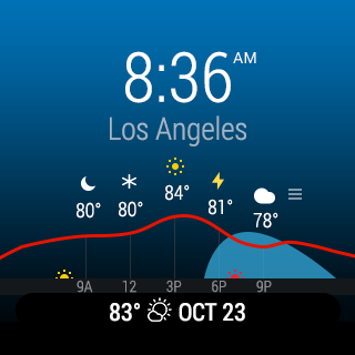 InstaWeather for Android Wear – Screenshot
