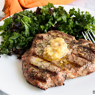 Grilled Pork Chops with Shallot Ghee