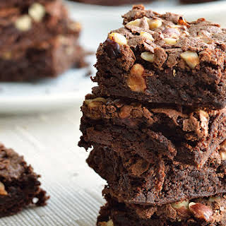 Fudgy Brownies with Hazelnuts.