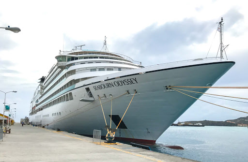 Seabourn Odyssey on departure day in St. Maarten.