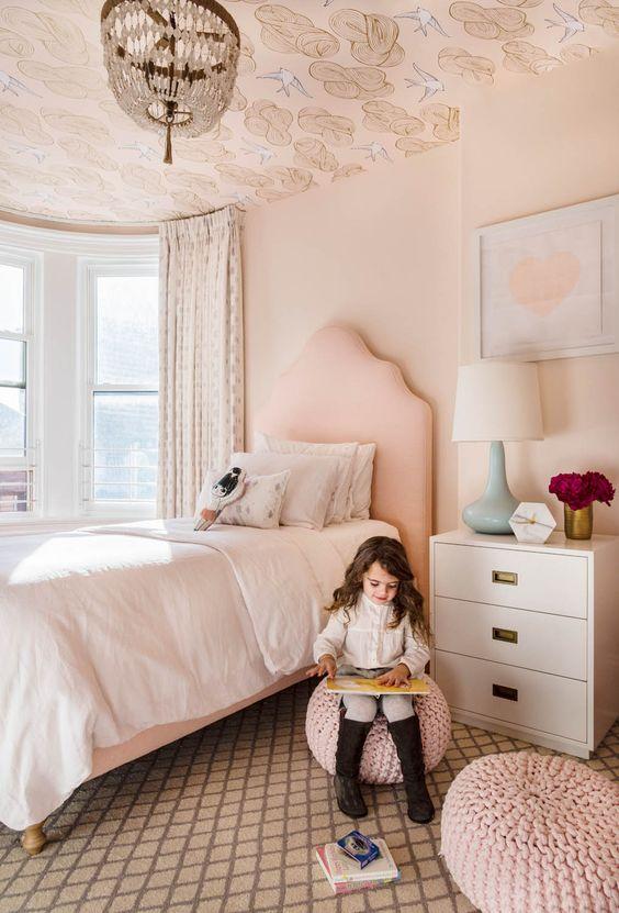 Little Girl Bedroom Ceiling Art