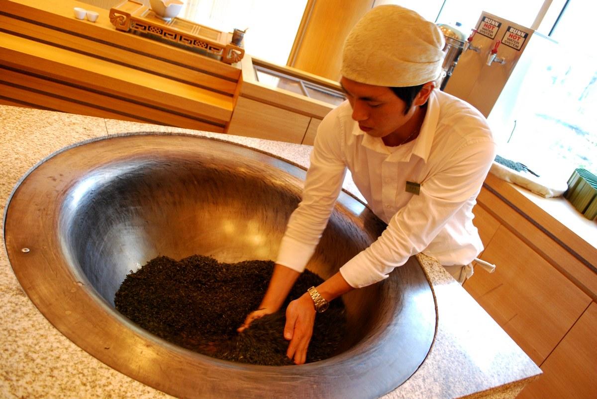 Photo: Pražení čaje...