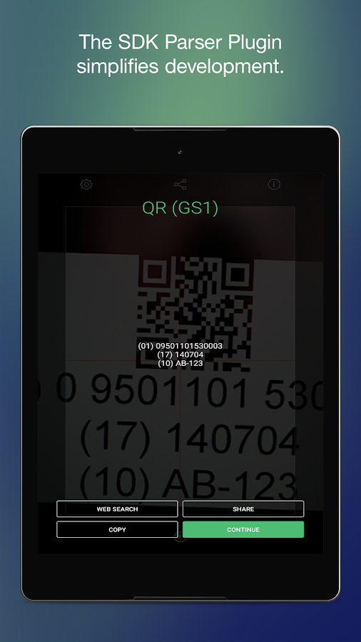 Manatee Works Barcode Scanner- screenshot
