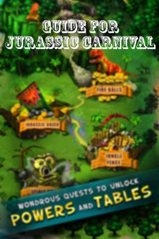 Guide For Jurassic Carnival