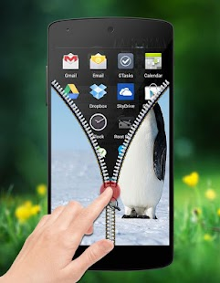 Penguin Zipper Lock screenshot