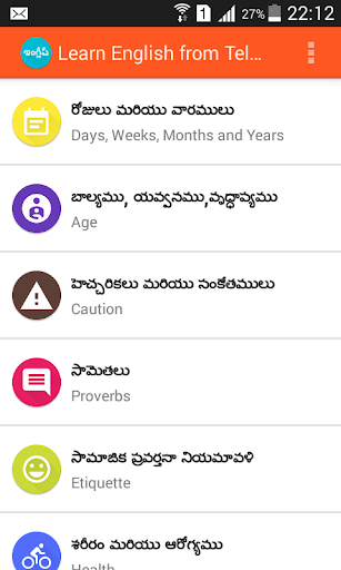 Learn English from Telugu