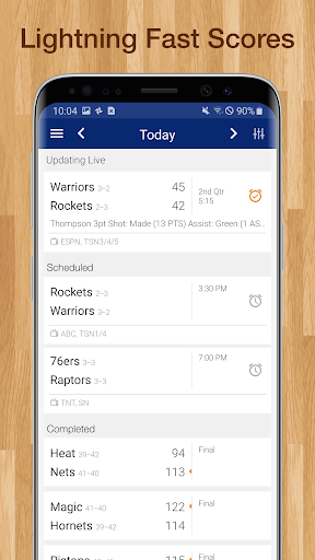 Basketball NBA Live Scores, Stats, & Schedules 9.0.8 screenshots 9