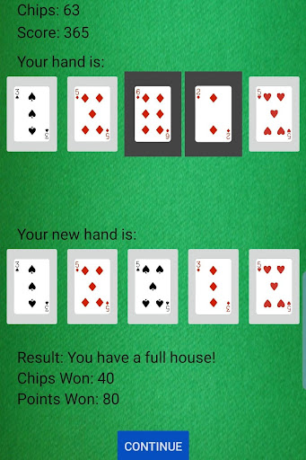 Draw Five Deluxe! - Five Card Draw - screenshot