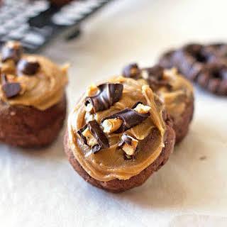 Chocolate Peanut Butter Pretzel Doughnuts.