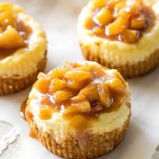 Mini Caramel Apple Cheesecakes.