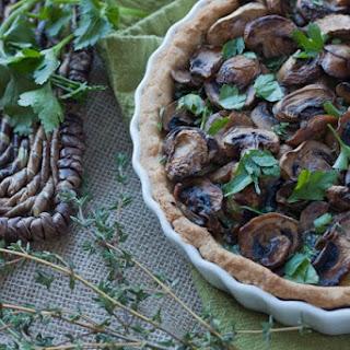 Vegetarian Spinach & Mushroom Tart