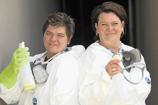 GOOD AND CLEAN AND FRESH: Sisters Roelien Schutte and Eileen de Jager run a business specialising in crime-scene clean-ups Picture: KEVIN SUTHERLAND