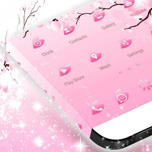 粉紅色的櫻花GO主題 個人化 App LOGO-硬是要APP