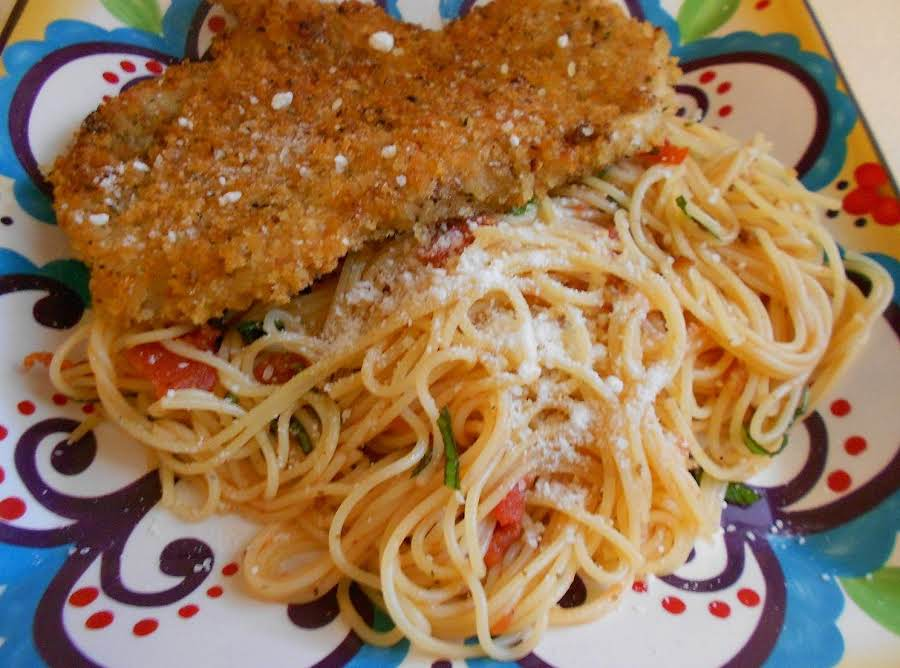Crispy Italian Chicken Breasts With Pasta Recipe Just A Pinch