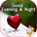 Good night & evening messages with pictures GIFs icon