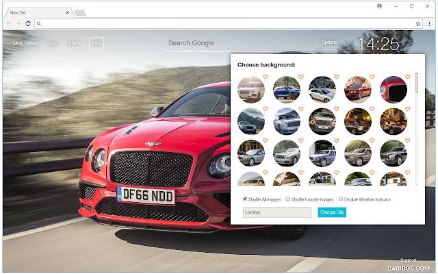 Bentley Cars Wallpaper NewTab - freeaddon.com