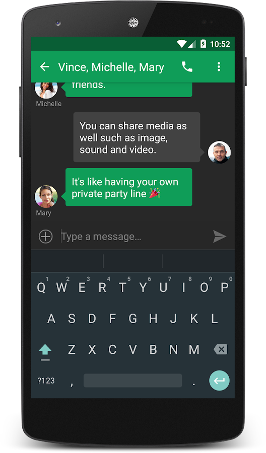 chomp SMS- screenshot