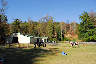 Photo: WoHeLo Stables Pictured are the ring, the stables, as well as pasture areas.
