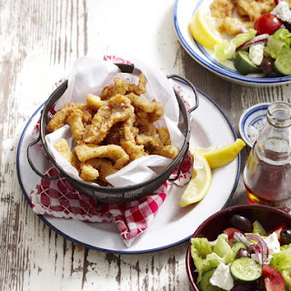 Crispy Calamari with Greek Salad