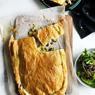 Broccoli, Feta And Anchovy Fillo Pie