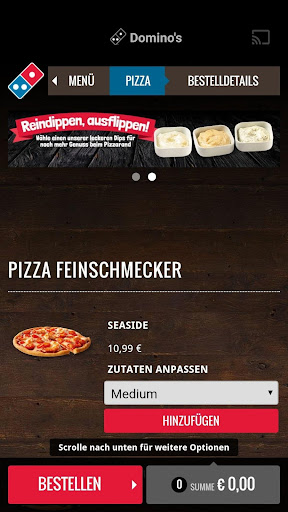 Domino's Pizza Germany screenshot 2