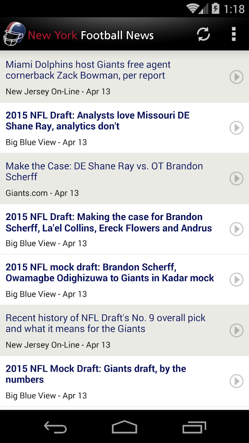 New York Football News - screenshot