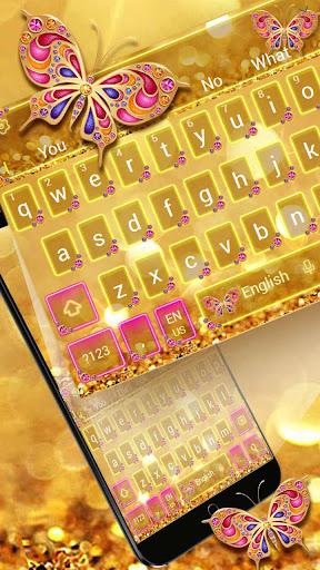 Golden Butterfly Keyboard Theme 10001001 screenshots 1