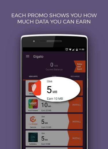 Gigato: Free Data Recharge- screenshot