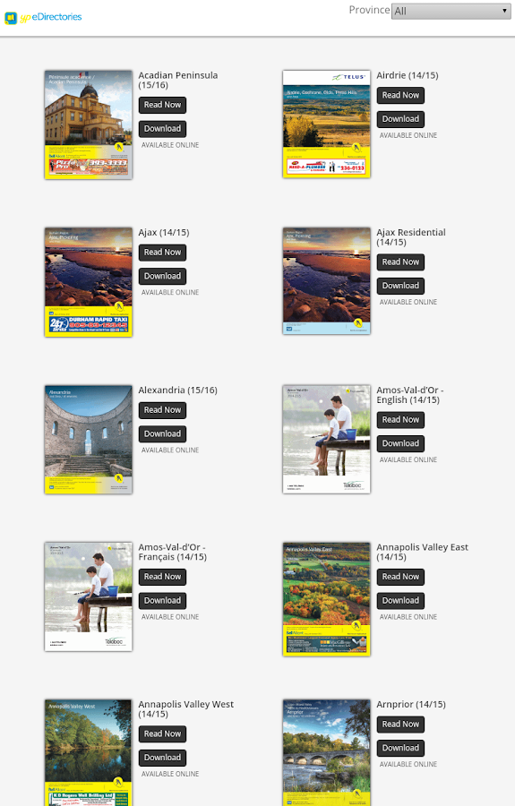 YP eDirectories- screenshot